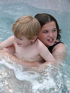 Hot tub ellie n rob