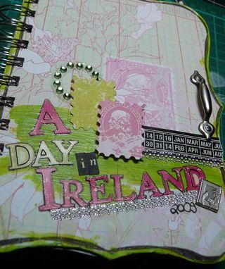 Collage press minibook cover